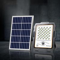 태양 광 투광 조명 스포트 라이트 200W 램프 스마트 야외 태양 가로등 정원 창고에 대 한 원격 제어와 함께 공장