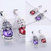 GWul BrideMaid Женщины Устанавливает ожерелье Кристаллические Серьги и Ювелирные Изделия Стрелец Сэйтериус Ожеленые Устанавливает ювелирные изделия Swarovski Party