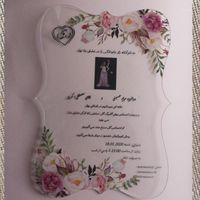 2020 무료 디자인 맞춤식 꽃 인쇄 아크릴 카드 결혼식 초대 카드 커플 사진 인사말 1