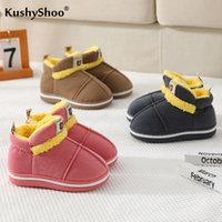 Kushyshoo Platform Boots for Kids Girls 2020 Moda casual Multicolor Multicolor All-Match Botines de nieve espesar Peluche Calzo suave Baby Shoes Y1125
