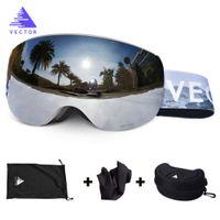 OTG Ski Snowboard Mirrored Magnetic Goggles Women Men Skiing Eyewear Mask UV 400 Snow Protection Glasses Adult Double Spherical Q0107