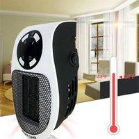Fan de calentador eléctrico portátil 500W para el escritorio de la oficina del dormitorio doméstico con termostato ajustable Mini calentador eléctrico