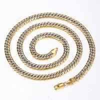 NOUVEAU Mode 6mm Gold rempli Coup de coupe Cuban Cuban Gold Color Chain Collier pour hommes Femmes Bijoux Cadeau Grossiste