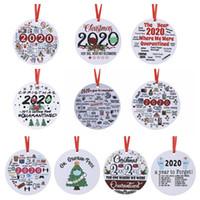 Decoración navideña 2020 Gran evento Biden Fireworks Grinch Pendant de madera 2021 Año Nuevo Decoración colgante