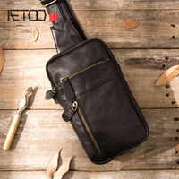 Aetoo Натуральная кожа мужская сумка мужской сундук мешок путешествия плечо человек скрещивание сумки мешок сумки мужские телефоны слинг сундук