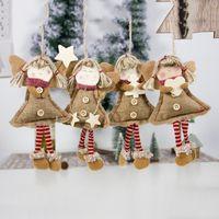 크리스마스 펜던트 드롭 장식품 긴 다리와 천사 인형 크리스마스 트리 휴가 장식 홈 나비다드에 대 한 크리스마스 장식