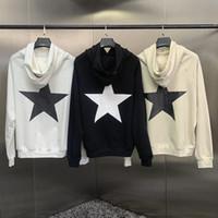 19FW Pentacle Hoodie Streetwear 패션 망 여성 후드리스 스타 인쇄 후드 Pullover 겨울 스웨터 크기 S-XL
