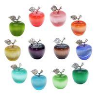 Naturstein Kristall Rosenquarz Apfel Dekorative Kristall Quarz Natürliche Edelstein Moderne Dekoration Weihnachtsgeschenk