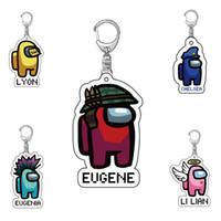 12 أنماط الأزياء والألعاب A-G US Keychain أكريليك الأكريليك أقراط الكرتون لعبة حامل المفاتيح المفاتيح حقيبة مفاتيح سيارة حقيبة