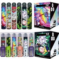 Rick XXL 일회용 포드 디바이스 2000mAh 800mAh 6ml vape 펜 스틱 시스템 10 옵션 전자 담배 증기 스타터 키트 퓸 Glamee Extra Xtra