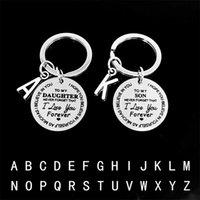 Надпись Ключ Пряжка до моего сына дочь Нержавеющая сталь Вдохновляющая любовь Оригинальность Мода Аксессуары Клайч Рождественский подарок 2 6 Гц K2
