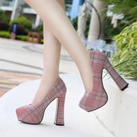 Scarpe da donna Scarpe da donna Sandali a pompa del partito Grande taglia 35-46 Scarpe da donna Platform Tacchi alti 14 cm Donne Thist Heelsmultifunzione