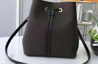 Женщины Сумки на ремне Кожаные ведро Сумка Женщины Известные сумки Tote Сумки Высокое Качество Цветочная Печатная Печатная сумка Сумка Crossbody Кошелек Twist N40198