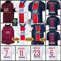 Paris Soccer Jersey Paris SaintCamicia da calcio Germain 7 Mbappe Maillot de Foot 10 Neymar Men's 18 ICARDI Kids Kit di Maria Uniformi