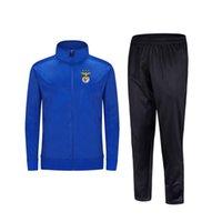 2021 Benfica Новый стиль футбольный мужской куртка с брюками спортивная одежда футбольный трексуит взрослых детская одежда набор
