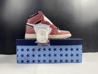 2021 1 1 S Kupa Odası Chicago Kristal Alt Kırmızı Beyaz Jumpman Tasarımcı Yüksek Basketbol Ayakkabı ile Kutusu OG Erkekler Atletik Sneakers DA2728-100