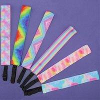 Mulheres Tie-tintura Headbands Girls Gradiente Arco-íris Cabelo Varas de Senhoras Dentes Non Slip Headwrap Fashion Head Head Heong para Adulto Kids E120409