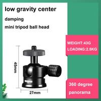 Tripé cabeças base girar 360 graus Mini Ball Head Monitor de câmera 360 ° ajustável 1 \ 4 parafuso amortecedor panorama panorama DSLR Celular DSLR