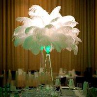 عالية كيلي طويل النعام ريشة 28 بوصة حفل زفاف الجدول الزينة مهرجان الخلفيات المنزل عمود الحرفية لوازم الزفاف