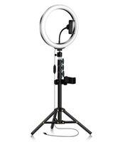 ضوء خاتم طويل القامة مع حامل حامل الهاتف حامل الهاتف LED دائرة المصباح Ringlight for التصوير الفوتوغرافي Selfie ماكياج الفيديو على YouTube Tiktok