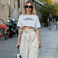 Mode O Col Col Lettre Imprimer Micro Ultra Short T-shirt Summer Femmes À Manches courtes Lâche Casual Tops Cosy Slim Tee shirt1