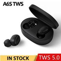 A6S TWS بلوتوث سماعة إلغاء الضوضاء fone سماعة مع مايكروفون يدوي سماعات الأذن ل xiaomi redmi airdots سماعات أذن لاسلكية