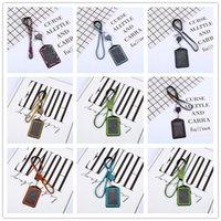حبل بطاقة كريستال مجموعة قلادة الماس مع حامل شارة معرف أفقي وسلسلة مفتاح بطاقة الهوية مفتاح الهاتف حبل WY948