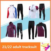 2020 2021 Mbappe Fussball Full Reißverschluss Jacke Training Anzug 20 21 Paris Maillot de Football Trainingsanzug