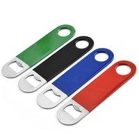 Açıcı 4 Renkler Kısa Sac PVC Bira Şarap Açıcı paslanmaz çelik İçecek Şişe Açıcı Mutfak Gadget YHM133-1 Şişe
