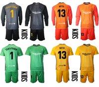 2021 الموسم مجموعات موحدة حارس المرمى Camisa دي فوتبول مخصص للأطفال كيت 1 النسب TEGEN 13 نيتو كرة القدم بنين تدريب كرة القدم جيرسي