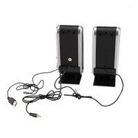 Leshp الكمبيوتر المتحدث HY-218 المحمولة USB SoundBox SoundBox Speakers لسطح المكتب سهلة مكبرات الوسائط المتعددة المحمولة 1