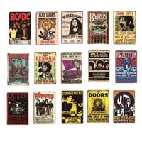 2021 Band rock ACDC Queen Top Music Portes Vintage Metal Retrotin Signer Plaque Plaque Peinture Antique Cadeau Home Bar Pub Pauche Plaque Arts Arts Cadeaux Cadeaux