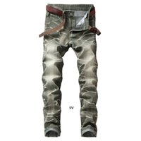 New Fashion Jeans Light Colored Wash Straight For Grinding White Men &#039 ;S Jeans Straight Tube Color Ground White Trousers 5 Color Free z