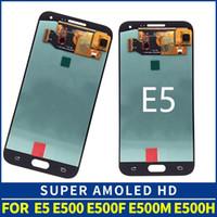 """100% probado Super AMOLED 5.0 """"LCD para Samsung Galaxy E5 E500 E500F E500H Pantalla LCD Pantalla táctil Montaje digitalizador DHL gratis Envío"""