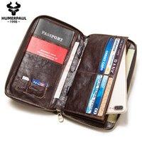 Nouveau Passeport Travel Hommes Portefeuille En Cuir Multi-Fonctionnement Titulaire de carte de crédit Porte-Embrayage Document Multi-Card STOCKAGE Qualité Sac de téléphone