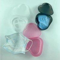 Masque Support Boîte de rangement anti-poussière étanche à l'humidité de nettoyage Boîtes bouche couverture coffret de rangement transparent en plastique Organisateur LJJP788