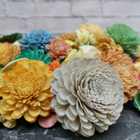 200pcs sortimento de flor de madeira sola, flores secas para difusor de flor de flores. Z1202.