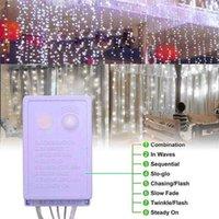أحدث تصميم 12 متر × 3 متر 1200-LED 110 فولت الدافئة الأبيض ضوء رومانسية عيد الميلاد الزفاف في الهواء الطلق الديكور ستارة سلسلة ضوء الولايات المتحدة القياسية