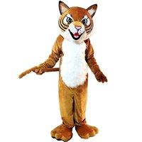 Tiger Wild Cat Mascot Disfraz de dibujos animados Tamaño de adultos Longteng Alta Calidad (TM) 0025