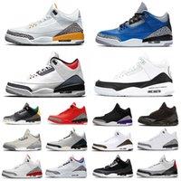 Con la marca Marca Colores Mixtos Jumpman 3 Mens Shoes de baloncesto Blanco Cemento Clorofia Infrarrojo Katrina 3S Tendeners Deportes Sneakers40-47