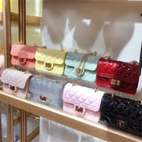 Jelly Handbags Ombro Feminino PVC Mini Crossbody Bolsas Para As Mulheres 2020 Small Cluth Bolsa Limpar Mensageiro Transparente Saco Q1117