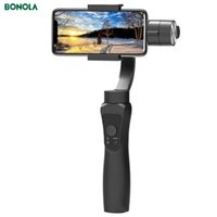 Bonola 3 Axis Anti-Shake Selfie Stick Handheld Gimbal para Smartphone Camera Estabilizador IOS iPhone Android Aplicación Controles Teléfono Y1128