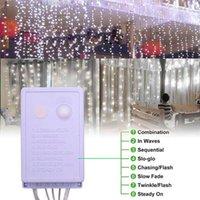 Discount 18m x 3m 1800-LED luz branca quente romântico casamento casamento decoração ao ar livre corda corda luz EUA padrão branco ZA000939