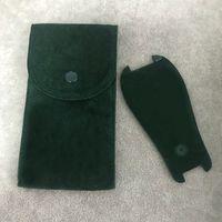 Verde orologio da tasca di protezione liscio flanella Pouch delle donne degli uomini orologio da polso Custodia protettiva Orologi intasca verde del regalo Storage Bag