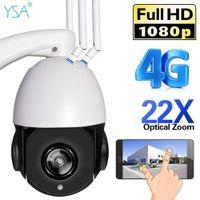 YSA 1080P HD PTZ Caméra IP Caméra IP 4G 3G SIM CARTE DE SIG DOME WIFI Caméra de sécurité Outdoor 22x Optique Zoom Night Vidéo Vidéo Surveillance LJ201209