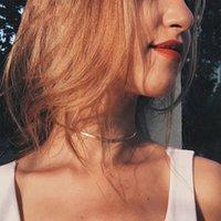 المختنقون تصميم بسيط الذهب والفضة اللون التيتانيوم الصلب قلادة أنيقة ثعبان سلسلة المختنق للمرأة الفتيات هدايا حزب الحزب bithday