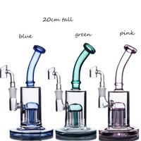 A inebriante das plataformas de vidro de vidro de vidro de vidro Bongo Árvore Árvore Percycler Bubbler Hookahs Acessórios para fumar Tubulação de Tabaco Shisha Waterpipe com 14mm