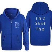 Cette chemise Tho Letter Sweats à capuche Homme 2020 Cardigans à glissière pour hommes Cardigans à capuche à capuche