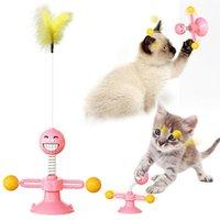 Gato brinquedos treinamento ao ar livre jogo interativo gato coçar brinquedos gato mola brinquedo pet suprimentos 3 cores
