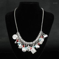 Érase una joyería de la joyería MAXI Collar para las mujeres Accesorios Multi-colgantes Collar de cadena Mujer Vinage Collier1
